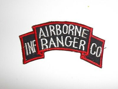 e1501 Korea War US Army tab Airborne Ranger INF infantry CO Company large R21A2