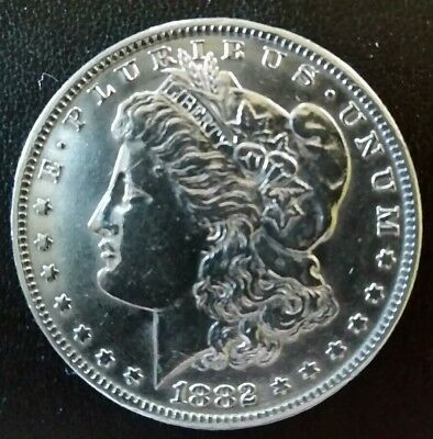 **About Uncirculated ** 1882- O Morgan Silver Dollar ** Barely Touched ** Nice