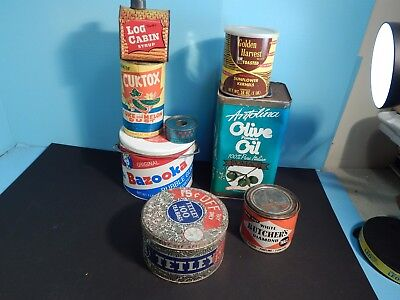 Vintage Large Lot Advertising Tins & Containers Lot 7