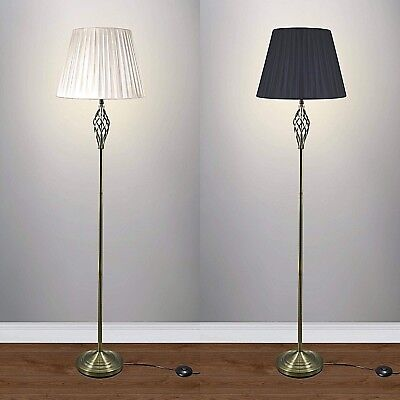 Floor Lamp Antique Brass 164 cm tall floor lamp top quality fabric shade