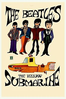 The Beatles * Yellow Submarine *  Italy Movie  Poster 1969   13x19