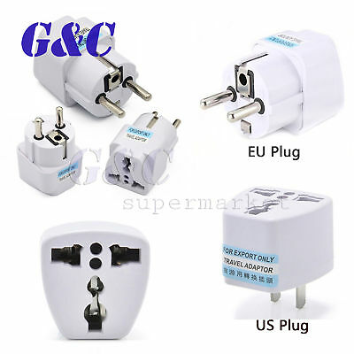 UK US AU EU AC Europe Travel Charger Power Adapter Converter Wall Plug Home