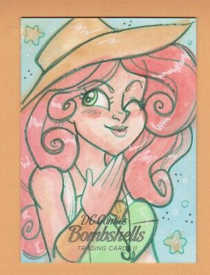 Poison Ivy 2018 Cryptozoic Dc Comics Bombshells One Of A Kind Sketch Card #d 1/1
