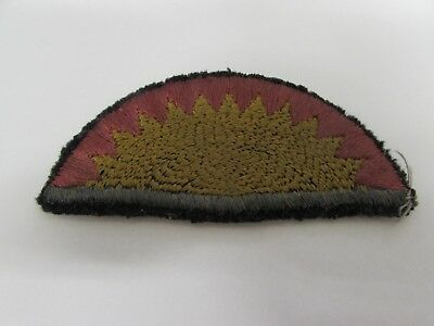 WWI US Army 41st infantry division black on back patch.