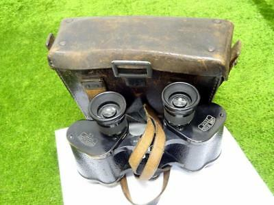 WWI ZEISS MARINEGLAS 1915/16 GERMAN KRIEGSMARINE BINOCULARS No 636687 & CASE FWO
