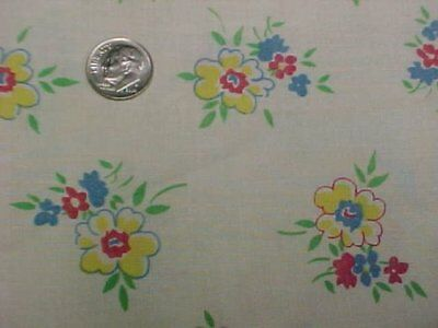 BEST Vintage Feedsack Quilt Fabric Doll Tiny Flowers Dainty Pnt 1940s Flour Sack