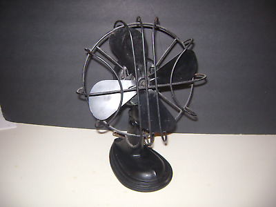 """Cast Iron antique appearance fan - electric & works rotates 13"""" x 6"""" wide"""