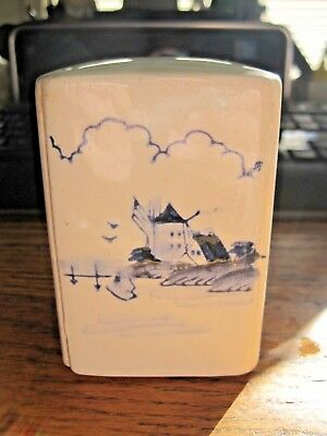 Vintage Beautiful Blue/White DUTCH WINDMILL SALT & PEPPER Shaker COMBO JAPAN