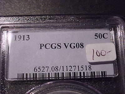PCGS VG-8 1913-p  Barber Half Dollar LY and part of IT  #2