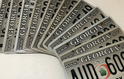 """(choice) Georgia license plate - gray """"www"""" design - County variety"""