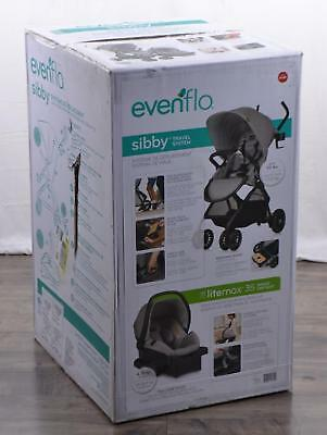 NEW Evenflo Sibby Baby Travel System Stroller Car Seat 4-50 Pounds Mineral Gray