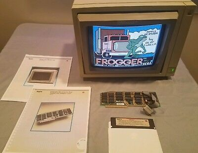 Apple II Vintage & Rare Applecolor 100 RGB Monitor A9M0308 With Card *Read desc*