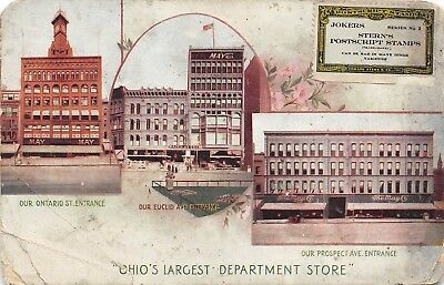 E24/ Cleveland Ohio Postcard c1910 May Company Department Store 3View