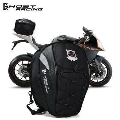 Motorcycle Rear Tail Bag Seat Saddle Helmet Waterproof Shoulder Large Capacity