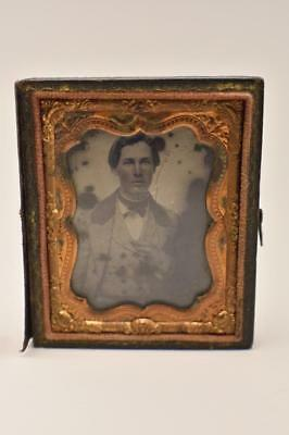 Antique Ambrotype 9th Plate Photo, Young Man