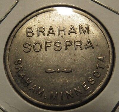 Vintage Braham, MN Sofspra Car Wash Token - Minnesota
