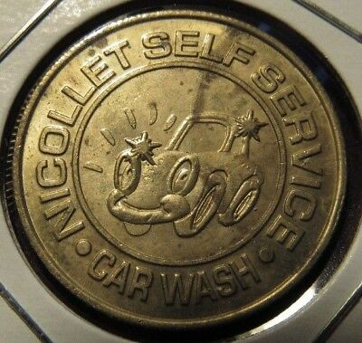 Vintage Nicollet Self Service Minneapolis, MN Car Wash Token - Minnesota