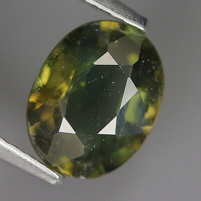 1.68 Ct Natural Unheated Greenish Yellow KORNERUPINE Oval Gem @ See Vide!
