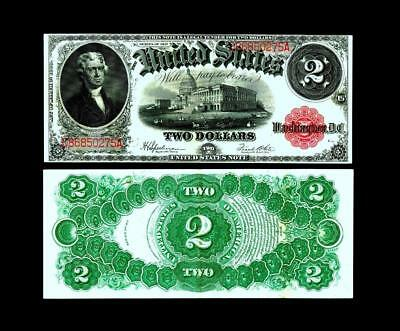 Fr.60 1917 $2~LARGE SIZE~LEGAL TENDER~~ALMOST UNCIRCULATED