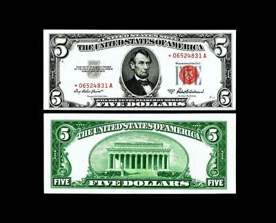 1953-A ****STAR**** $5 Red Seal United States Note~~~ UNCIRCULATED