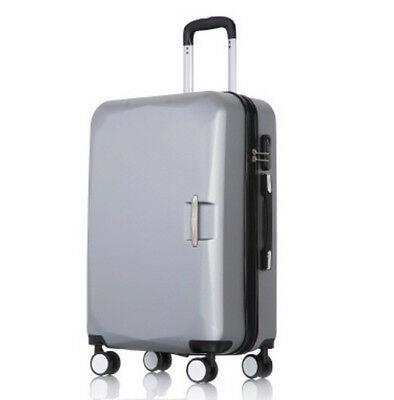 A901 Silver Lock ABS Universal Wheel Travel Suitcase Luggage 24 Inches W