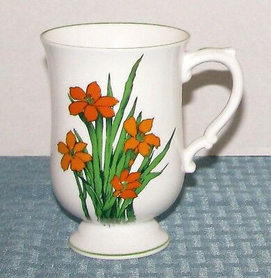 "Crown Staffordshire England Bone China Devon 4 5/8"" 10 oz. Footed Mug - EXCELL."