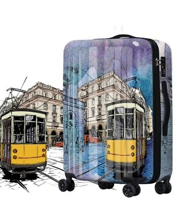 A498 Lock Universal Wheel Vintage City Travel Suitcase Luggage 24 Inches W
