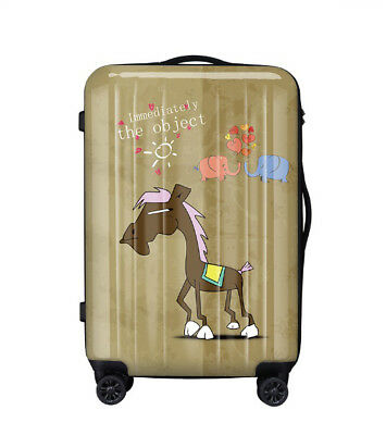 A310 Lock Universal Wheel Brown Horse Travel Suitcase Luggage 28 Inches W