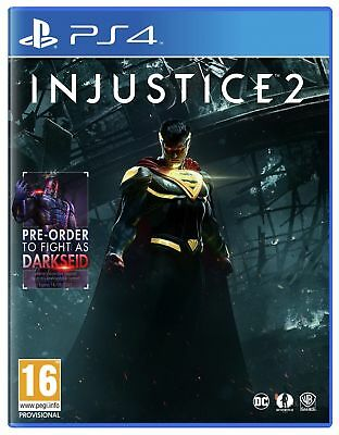 Injustice 2 Sony Playstation PS4 Game 16+ Years