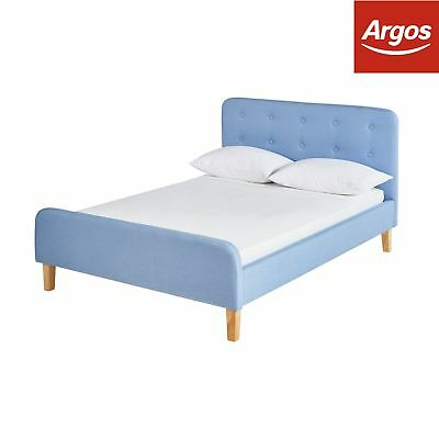 674fef4b9b0c ARGOS HOME ASHBY Double Bed Frame - Sky Blue - £199.00 | PicClick UK