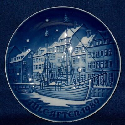 "B & G 1989  Jule-Aften Christmas Plate ""christmas Anchorage""  Denmark"
