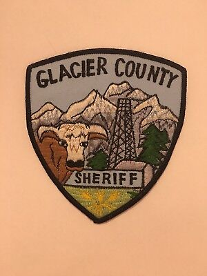 Glacier County Sheriff Patch Vintage Collectable