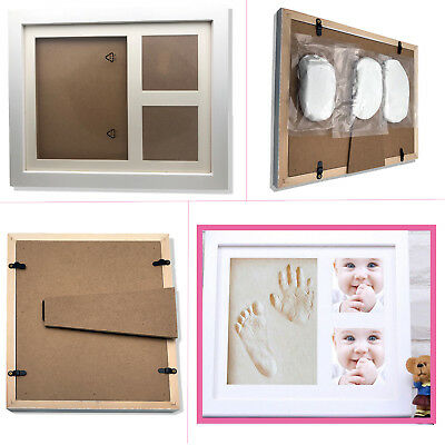 Top Baby Handprint Footprint Kit Non Toxic Clay Mold & Picture Frame Keepsake