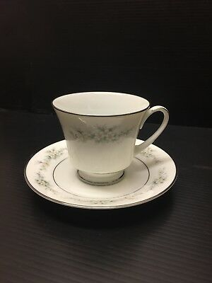 Noritake Contemporary Fine China, Melissa 3080, Cup And Saucer. Jv