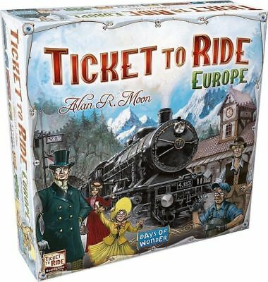 TICKET TO RIDE EUROPE Board Game 2-5 Players-FREE SHIPPING