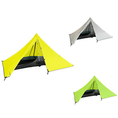 Lightweight Camping Hiking Pyramid Tent Trekking Pole Net Canopy 1 Person