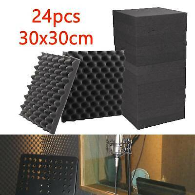 24 X  Acoustic Treatment Panels Sound Proofing Insulation Closed Cell Foam Tiles
