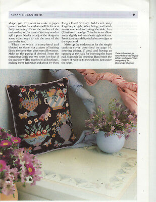 Urns and Fruit Susan Duckworth Needlepoint Chart in Colour