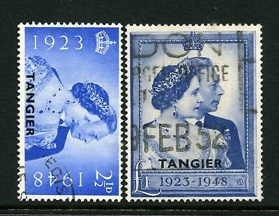 Tangier 1948 Royal Silver Wedding pair - Fine Used