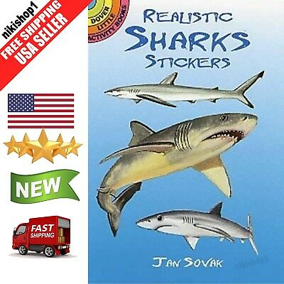 Realistic Sharks Stickers Dover Little Activity Books Stickers For Kids Paperbac