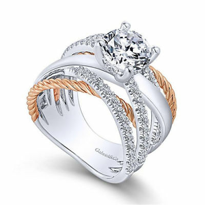 Women 925 Silver Jewelry Wedding Rings White Sapphire Infinity Ring Size 6-10