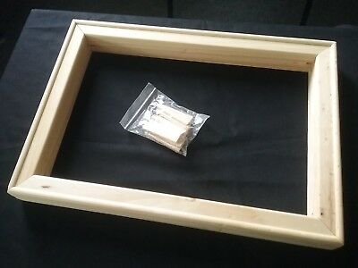 """Canvas stretcher frame small solid wooded deep edge & 8 wooden keys 10"""" x 14"""""""