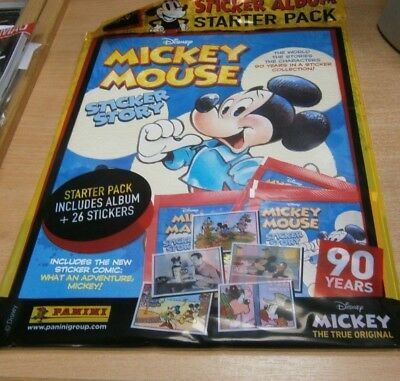 Panini Disney Mickey Mouse Sticker Story Starter Pack: Album + 26 Stickers