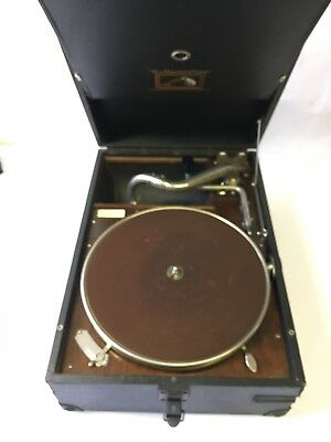 Vintage HMV Portable Gramophone - Wind up Gramaphone 1920s Record Player Antique