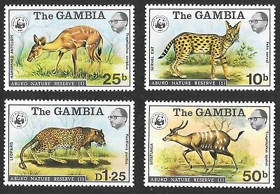 GAMBIA 1976 Nature Reserve series 1 ( World Wildlife Fund) S.G 356-9 unmounted