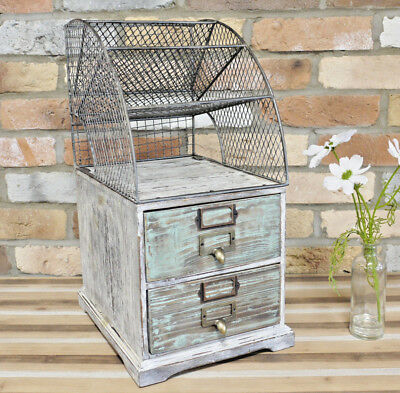 Industrial 2 Drawers Filing Cabinet Metal Desk Trays Home Office Storage Unit