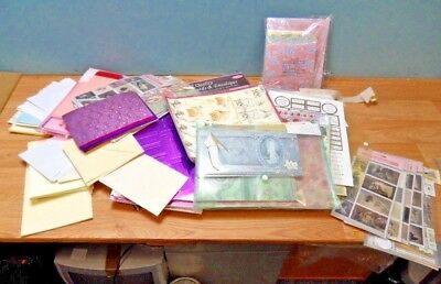 Job Lot of Card Making and Crafting Paper, Envelopes and Stickers