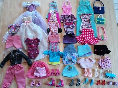 Barbie Job Lot 39 Items Including Dresses, Skirts + Shoes and Bags