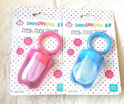 TeenyTinyTots Fresh Food Feeder  6 Mths +  Bpa Free New