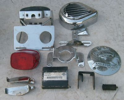 Harley Davidson Parts Engine Clutch Cover Taillight Tail light Brake Pads Etc.